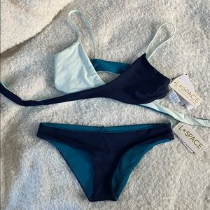 L Space Never worn reversible bikini!